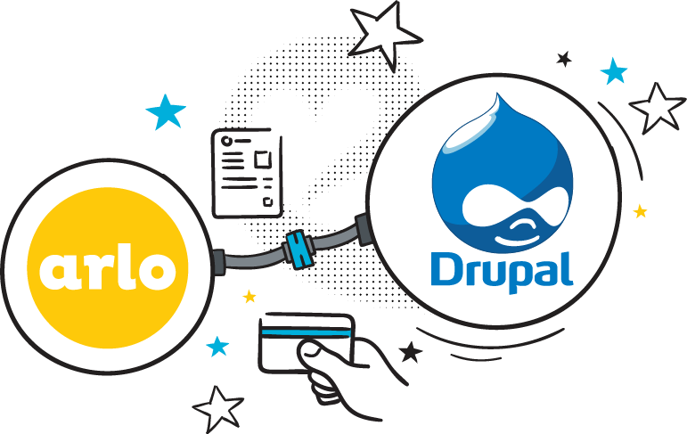 Logo for drupal website training and event management addon