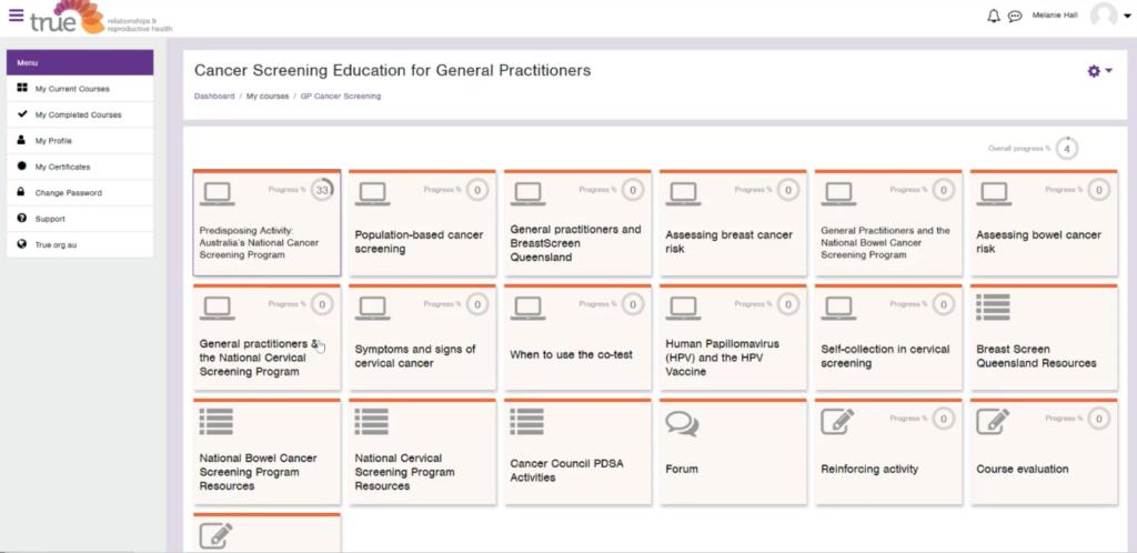 True training provider blended learning arlo learnbook zoom